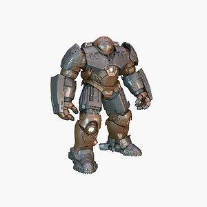 HulkBuster GOLD SILVER 3D