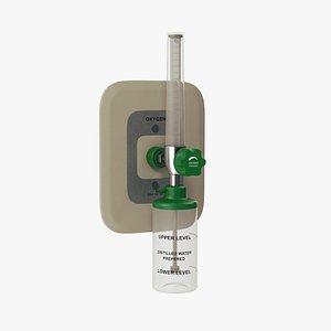 3D oxygen flowmeter