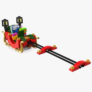 3D Lego Santas Sleigh with Gifts model