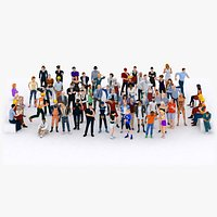 LowPoly City People Rigged Mega-Pack