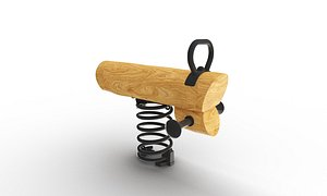3D Spring Horse Wood model