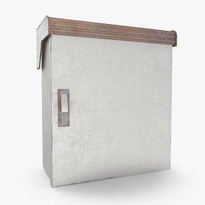 3D Power Box 0002 Low-poly model