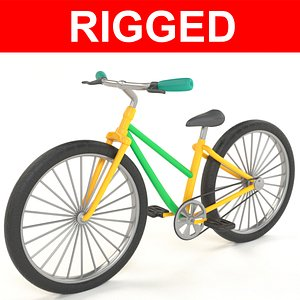 3D bike rigged