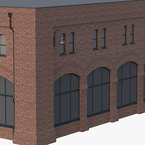 Game Ready Old Industrial Building 08 3D model