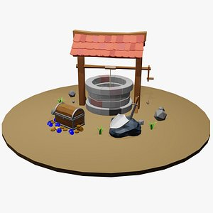 Low Poly Medieval Object Set 3D model