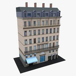 Typical  Paris Apartment Building 13 model