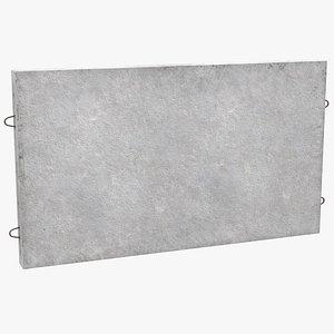 3D precast concrete wall panel