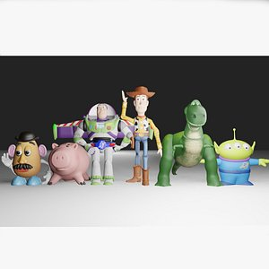 3D Toy Story Collection Woody Buzz Ham Rex Potato Head and Aliens