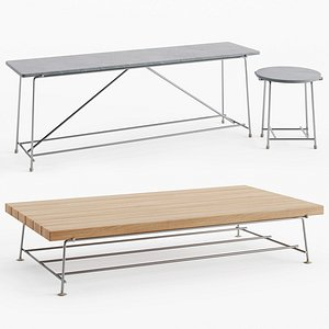 Flexform Any Day Outdoor Table 3D model