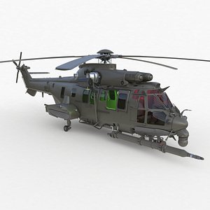 Eurocopter EC 725 High Detail 3ds max Vray 3D