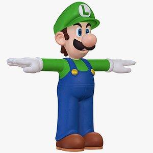 3D model Luigi Character Mario Rabbids Sparks of Hope 8K