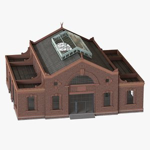 ready old industrial building 3D model