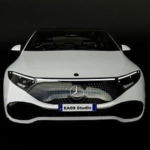 3D 2022 Mercedes EQS model
