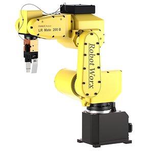 Industrial Robot FANUC LR Mate 200iB 3D model 3D model 3D