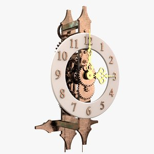 3D model Ancient Clock