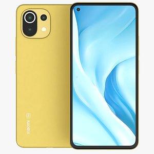 Xiaomi Mi 11 Lite 5G Yellow 3D model