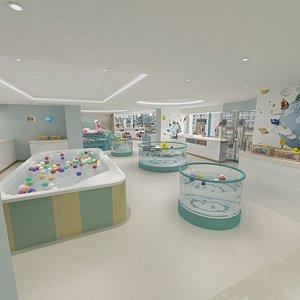 Children Indoor Swimming Pool 3D model