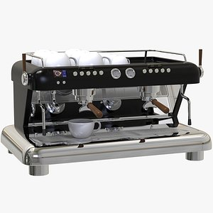 Big Commercial Coffee Machine 3D