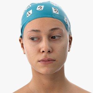 3D head human eyes