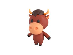 bull character 3D model