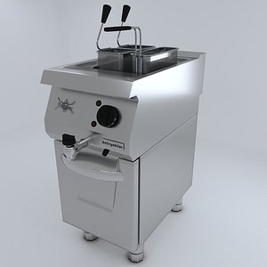 3D Commercial Kitchen 700 Series Macaroni Deep FryerD model