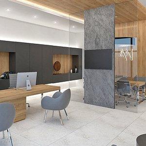 3D small office interior