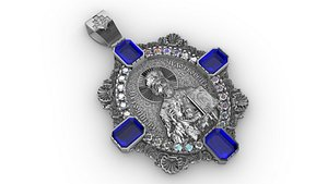 Pendant with Saint Nicolas 3D