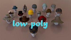 hats helmets pack 3D