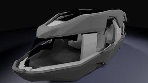 futuristic car design model