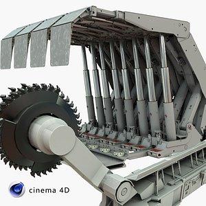 3D Coal Mining Machine  Shearer Loader model