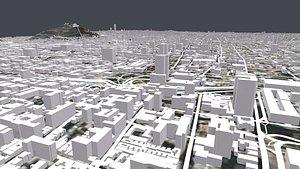 3D Cityscape Santiago Chile model