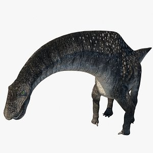 3D titanosaurus dinosaurs
