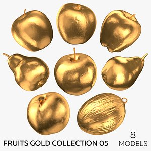 3D model Fruits Gold Collection 05 - 8 Fruits