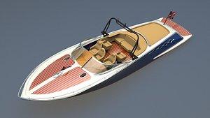 yacht boat vessel 3D model