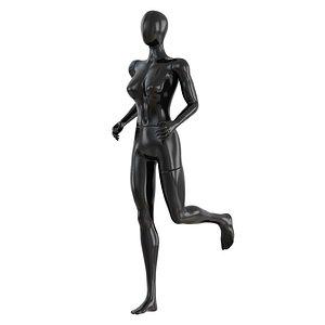 Female running mannequin 91 3D