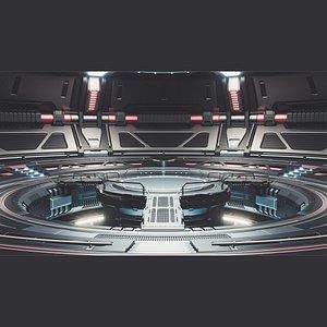 rendering tesla space sci-fi 3D model