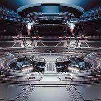 Sci-fi Scene for rendering Restyling  - TESLA