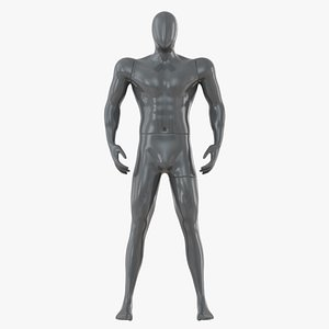 gray abstract male mannequin model