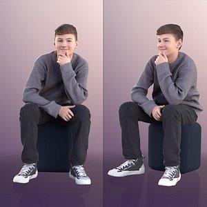 boy teen casual 3D model