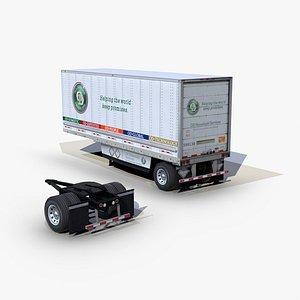 dry van trailer 28ft 3D model