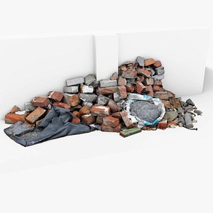 rubble debris junk 3D model