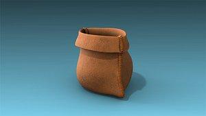 low-poly sack 3D model