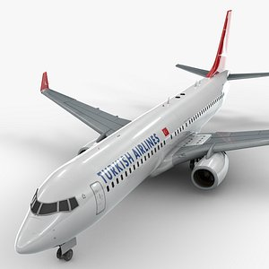boeing 737-8 turkish airlines 3D model
