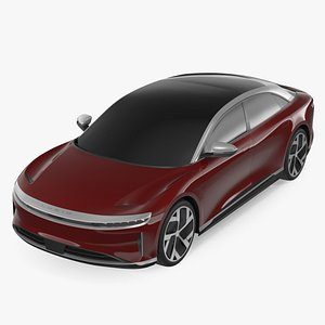 Electric Luxury Sedan Lucid Air Exterior Only 3D model