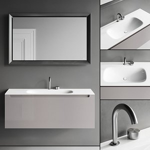 3D model vanity edge unit mirror