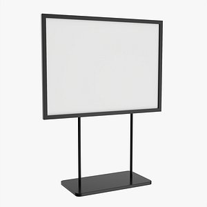 3D ad advertising stand