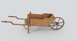 Wooden Barrow model
