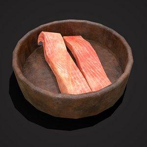 Salmon Bowl 3D model