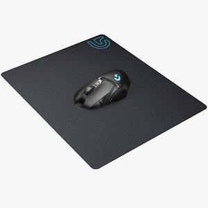 3D mouse pad e model