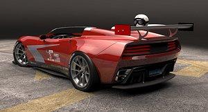 speedster open sports car 3D model